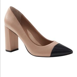 Banana Republic Madison Block Heel Pump Leather